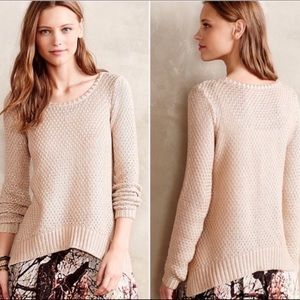 Anthropologie MOTH Shimmer Stitch Pullover Sweater